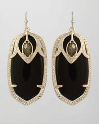 Kendra Scott | Darby Peacock Earrings Black | Lyst