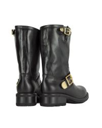 Luciano Padovan - Black Leather Biker Boot - Lyst