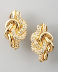 Rachel Zoe | Metallic Love Knot Post Earrings | Lyst