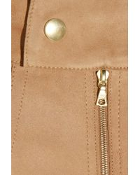 Emma Cook - Natural Paneled Suede Pencil Skirt - Lyst