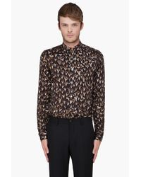 Paul Smith | Black Shark Teeth Print Shirt for Men | Lyst