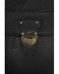 TOPSHOP - Black Pushlock Satchel Backpack - Lyst
