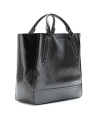 Burberry Black Large Leather Tote