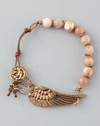 Love Heals | Pink Braided Sunstone Bracelet | Lyst