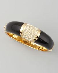 Rachel Zoe - Black Domed Deco Bracelet - Lyst