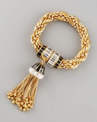 Rachel Zoe | Metallic Tassel Bracelet | Lyst