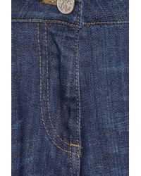 Roberto Cavalli   Blue Sequined Lowrise Skinny Jeans   Lyst