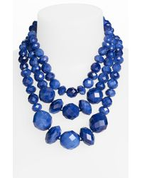 kate spade new york | Blue Give It A Swirl Statement Necklace | Lyst