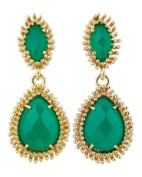 Kendra Scott | Green Kelli Earrings | Lyst