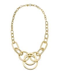 Michael Kors | Metallic Multi-ring Statement Necklace | Lyst