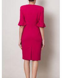 Alexander McQueen   Pink Petal Sleeve Dress   Lyst