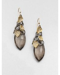 Alexis Bittar | Gray Smokey Quartz Drop Earrings | Lyst