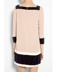 Alice By Temperley | Pink Rose Color Block Silk Tunic Dress | Lyst