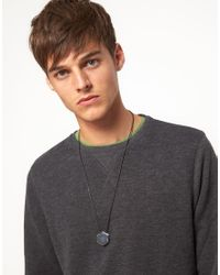 ASOS | Metallic Hollow Hexagon Charm Necklace for Men | Lyst