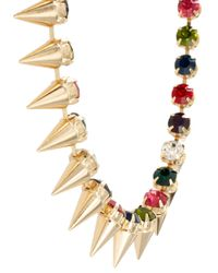 ASOS - Metallic Signature Spike Necklace - Lyst