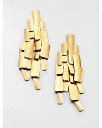 Aurelie Bidermann - Metallic Machu Pichu Earrings - Lyst