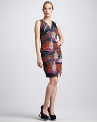Bigio Collection | Multicolor Ruched Taffeta Dress | Lyst