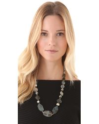 Chan Luu | Black Onyx & Crystal Long Beaded Necklace | Lyst