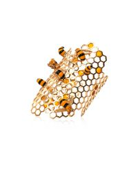 Delfina Delettrez | Metallic Gold To Bee Or Not Too Bee Cuff | Lyst