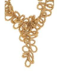 Elie Saab - Metallic Gold Short Loop Necklace - Lyst