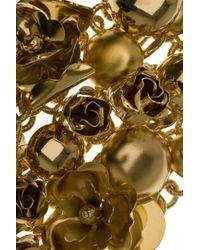Elie Saab - Metallic Large Metal Flower Bracelet - Lyst