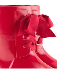 H&M   Red Wellingtons   Lyst
