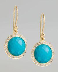 Ippolita - Blue Diamond & Turquoise Lollipop Earrings - Lyst