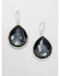 Ippolita | Gray Rock Candy London Blue Topaz & Sterling Silver Mini Teardrop Earrings | Lyst