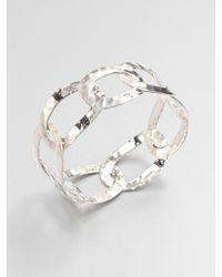 Ippolita | Metallic Flat Link Chain Sterling Silver Bangle Bracelet | Lyst