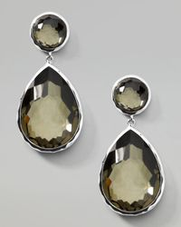 Ippolita | Metallic Pyrite Teardrop Post Earrings | Lyst