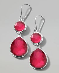 Ippolita | Metallic Raspberry Doublet Teardrop Earrings | Lyst