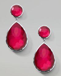 Ippolita - Red Raspberry Teardrop Post Earrings - Lyst