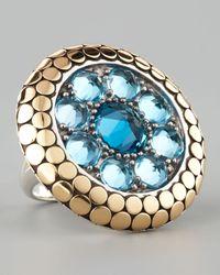John Hardy | Metallic Dot Round Topaz Ring | Lyst