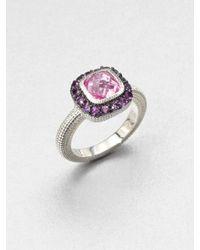 Judith Ripka | Pink Semiprecious Multistone Ring | Lyst
