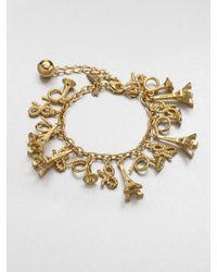 kate spade new york | Metallic Parisian Charm Bracelet | Lyst
