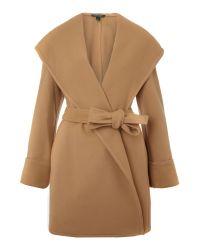 Lauren by Ralph Lauren | Natural Shale Wrap Coat | Lyst