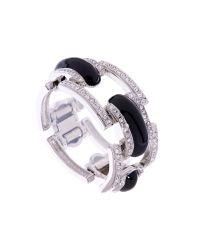 L.K.Bennett - Metallic Pave Enamel Bracelet - Lyst