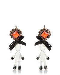 Marni - Multicolor Twin Doll Bow Earrings - Lyst