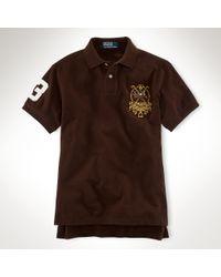 Polo Ralph Lauren - Pink Custom Fit Plain Polo Shirt for Men - Lyst
