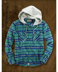 Ralph Lauren - Green Stephen Hooded Plaid Shirt for Men - Lyst