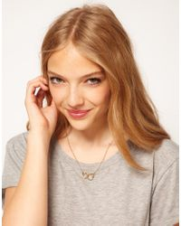 ASOS - Metallic Handcuff Ditsy Necklace - Lyst