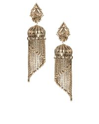 ASOS - Metallic Mini Lampshade Tassel Earrings - Lyst