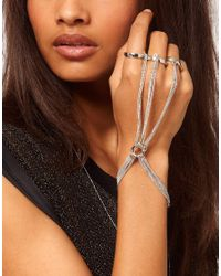 ASOS | Metallic 3 Finger Chain Hand Harness | Lyst