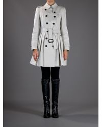 Burberry | Gray Belted Trench Coat | Lyst