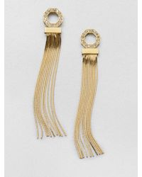 Ca&Lou - Metallic Iriana Swarovski Crystal Fringe Earrings - Lyst