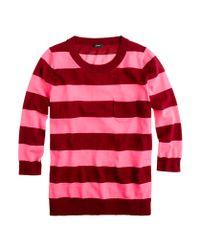 J.Crew | Pink Tippi Sweater in Stripe | Lyst