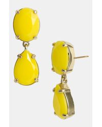 kate spade new york | Yellow 'Pop Palette' Drop Earrings | Lyst