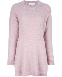 Stella McCartney - Pink Sweater Dress - Lyst