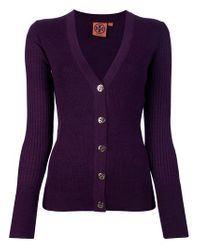 Tory Burch | Purple Cardigan | Lyst