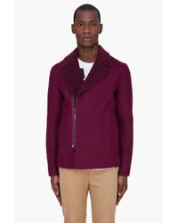 3.1 Phillip Lim | Red Burgundy Reversible Sherpa Jacket for Men | Lyst